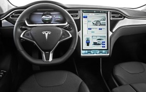 Interieur tesla model s elektrischeauto com for Interieur tesla model s