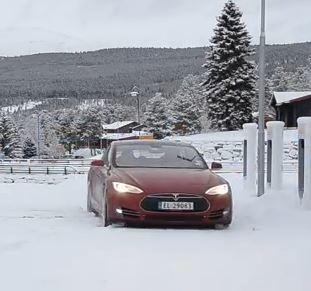 Elektrische Auto In Koud Weer