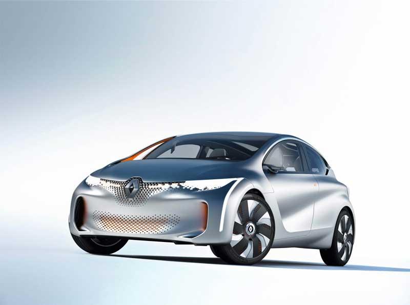 EOLAB conceptauto van Renault rijdt 1 op 50