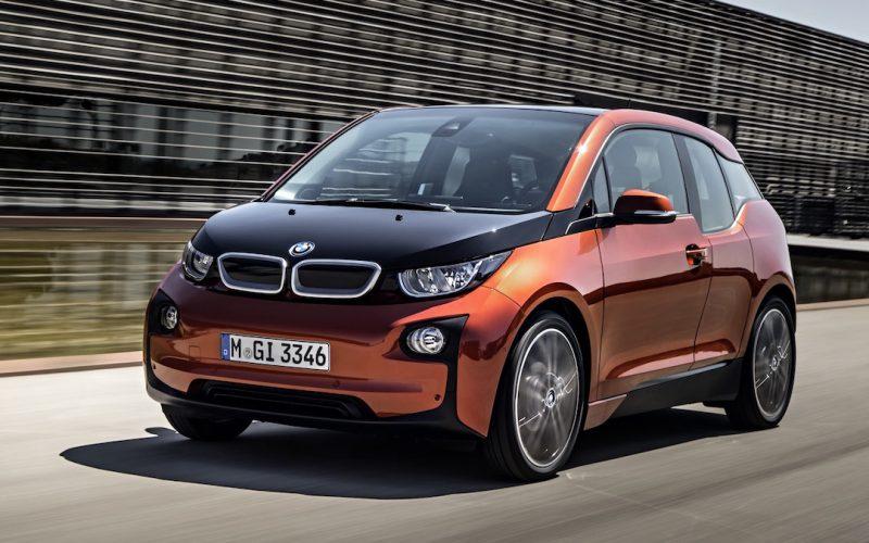 Oranje BMW i3