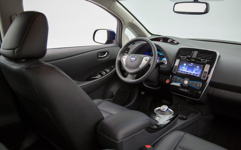 Nissan Leaf interieur zwart