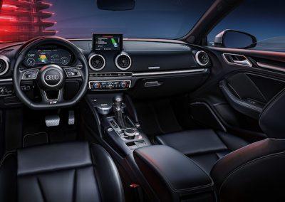 Audi A3 e-tron interieur leder