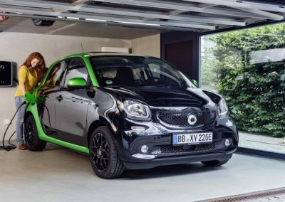 Smart ForFour Electric Drive garage