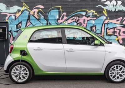 Smart ForFour Electric Drive wit laden