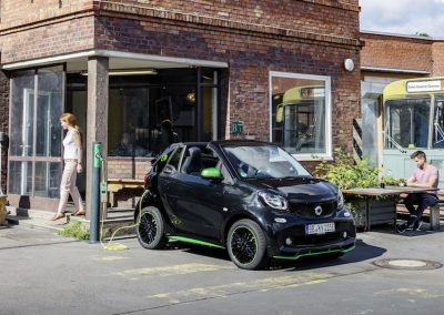 Smart ForTwo Cabrio Electric Drive parkeer