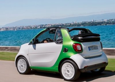 Smart ForTwo Cabrio Electric Drive wit achter