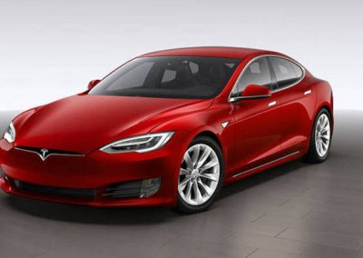 Tesla Model S P100D rood