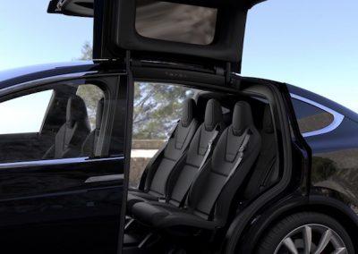 Tesla Model X P100D achterstoelen