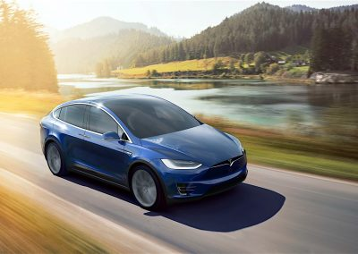 Tesla Model X P100D blauw