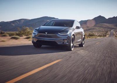 Tesla Model X P100D grijs
