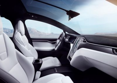 Tesla Model X P100D interieur wit