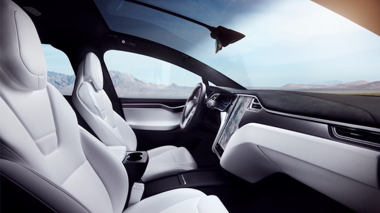 tesla model x p100d interieur wit